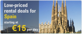 Low Priced rental deals for Spain
